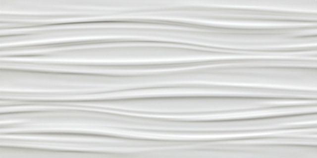 3D Wall Ribbon White Matt. 40x80