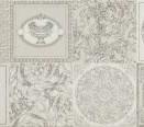 95894 Patchwork Decorati Bianco-Platino I 25x75