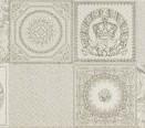 95895 Patchwork Decorati Bianco-Platino II 25x75