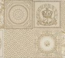 95897 Patchwork Decorati Crema-Oro II 25x75
