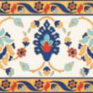 Cenefa BOUQUET Azul 20x10