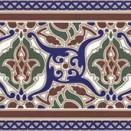 Cenefa Layal Hoor Azul 28x14