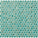 Dwell Turquoise Hexagon Gold 30x30
