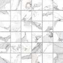 G20402 Calacatta Mosaico Lapp 5x5 30x30