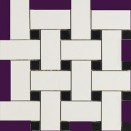 HOM890 Mosaico Intreccio BN  30x30