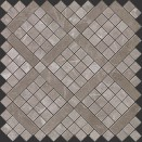 MARVEL GREY FLEURY DIAGONAL MOSAIC 305x305