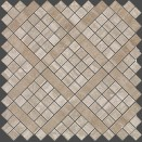 MARVEL TRAVERTINO SILVER DIAGONAL MOSAIC 305x305