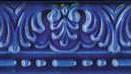 Moldura Baroca Azul Antic 20x5