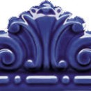 Moldura Gotica Azul Antic 20x7,5
