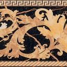 Nero fascia barocca 14,4x58,5