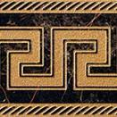 Nero fascia greca 11,5x58,5