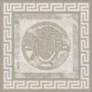 Tozzetto fascia geometrica 15,3x15,3 Grigio